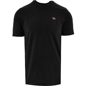 Paul & Shark Black Heritage Logo Egyptiläinen Puuvilla T-paita