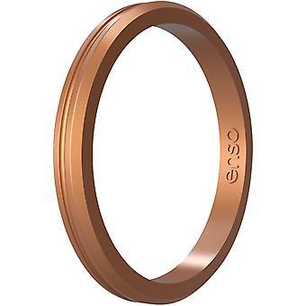 Enso Ringar Halo Contour Elements Serie Silikonring - Koppar