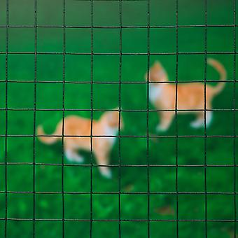 Nature Mesh Wire Square 0,5x5m 13mm plastic gecoate staal
