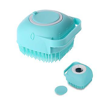 Cepillo de baño de masaje de silicona azul con dispensador de jabón mango de ducha corporal depurador cai1032