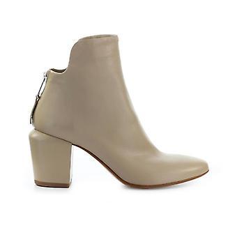 Elena Iachi Beige Leather Ankle Boot