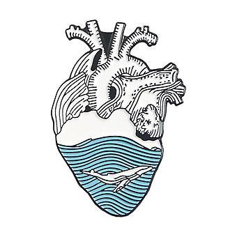 Starry Heart Brave Cats Freedom Heart Enamel Pin