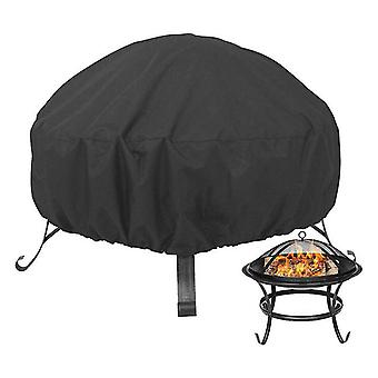 122*122*46Cm 210d oxford cloth round fire pit cover, rainproof, dustproof and sunshade round grill cover az8563