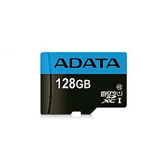 Κάρτα micro SD υψηλής χωρητικότητας ADATA 128 GB με προσαρμογέα SD