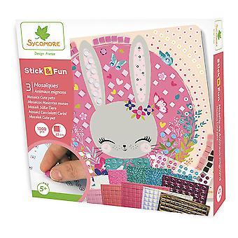 Sycomore Stick & Fun Children's Mosaics Cute Pets