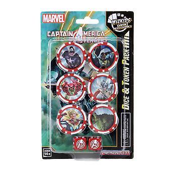 Marvel HeroClix: Captain America och Avengers Dice & Token Pack