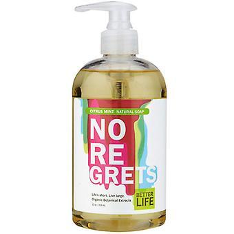 Better Life Natural Liquid Hand & Body Soap, Citrus Mint No Regrets 12 oz