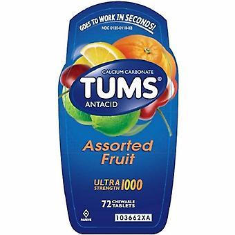 Tums Antacid Ultra Strength, 1000 mg, 72 onglets à croquer