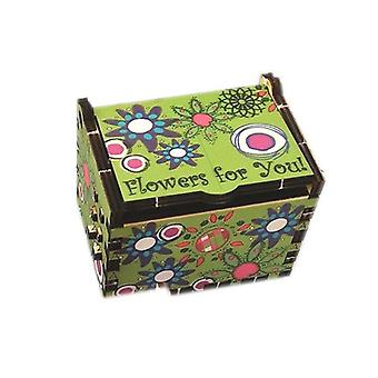 Box Silhouette Flowers in Green by Pop Up Designs