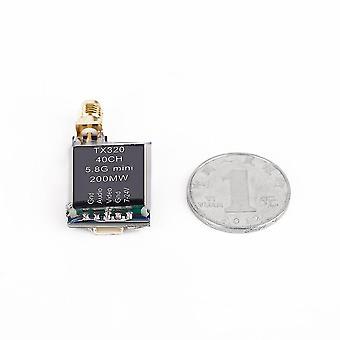 Tx320 5.8g 200mw 40ch Trasmettitore av wireless 5v per fotografia aerea Fpv