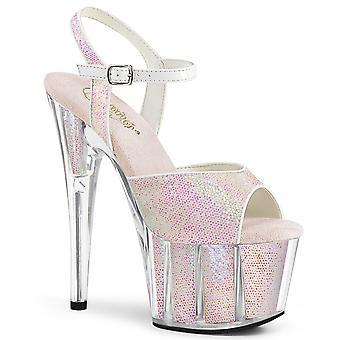 Pleaser Women 's Schoenen ADORE-710G Opaal Glitter / Opaal Glitter Inserts
