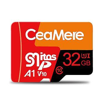 Tarjeta de memoria tricolor 32GB / 64GB Class10 High Speed TF Card Data Storage MP4 MP3 Card for Car