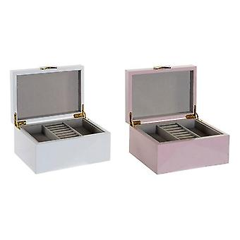 Jewelry Box DKD Home Decor Wood Varnished Traditional (2 pcs)