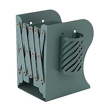 Telescopic Folding Bookshelf Desktop Storage Stationery For Students(Green)