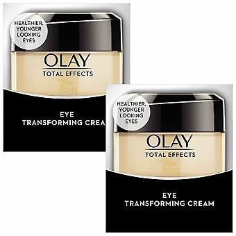 Olay Total Effects 7in1 Eye Transforming Cream, Pack of 2 15ml