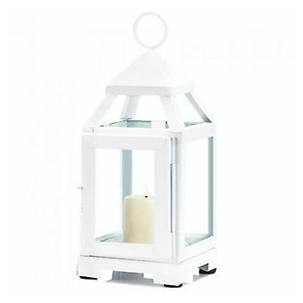Gallery of Light Contemporary White Candle Lantern - 9 inches, Pack of 1