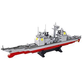 Sotilaallinen sota-ase ohjus hävittäjä aluksen malli tiilien rakennus 883Pcs| Lohkot