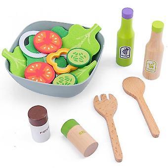 Wooden Kitchen Pretend Play Toaster Machine Food Mixer Baby Toys