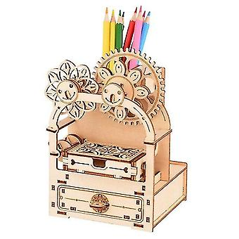 Interlocking blocks music box 3d wooden puzzle game toys diy building children kids christmas gifts adult interactive bauble