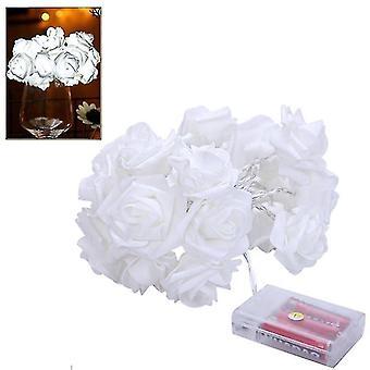 Light ropes strings 1.5M rose flower string lights valentine's day wedding christmas decor white