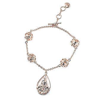 Rachel Kombuis Boeddha Armband voor Dames in Rose Gold Plated Silver 8 ''