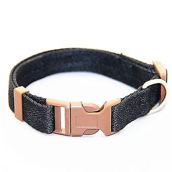 Moet verstelbare nylon halsbanden (L 30-50cm) (Zwart)