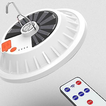 Ladattava ledbulb-lamppu kauko-ohjattava aurinkolatauslyhty kannettava hätäyömarkkinoiden valo