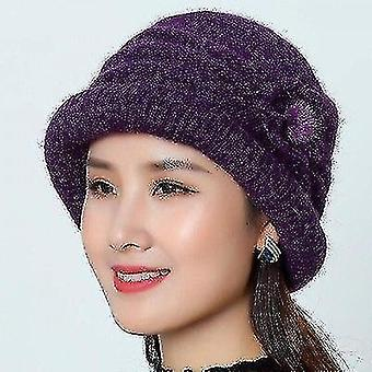 Hats With Flower Pattern Ladies Fashion Warm Women Capote