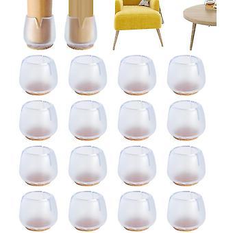 16 Stk Silikon Stuhl Bein Boden protektoren mit Filz verhindern Kratzer