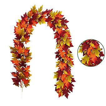 Fall Maple Garland 6.5ft Thanksgiving Artificial Autumn Decor For Home