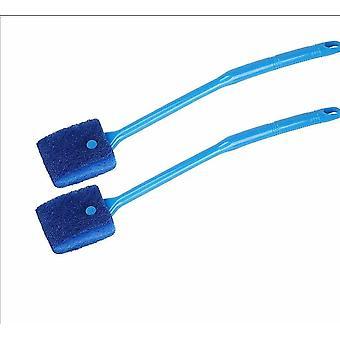 Escova de esponja de limpeza do aquário, limpeza magnética reutilizável A (pacote de 2)