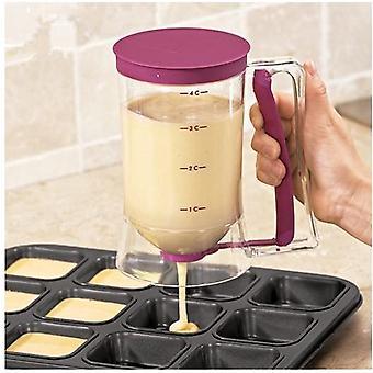 עוגת בצק Diy כלי אפייה בצק מפריד עם משפך גביע מדידה