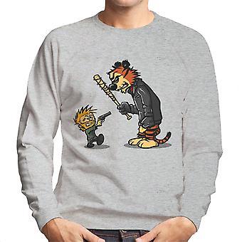 Opstaan Calvin en Hobbes Walking Dead Negan Rick mannen Sweatshirt