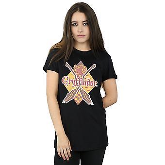 Harry Potter Frauen Gryffindor Raute Freund Fit T-Shirt