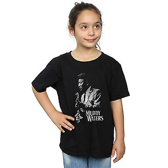 Muddy Waters Girls Mono Distressed T-Shirt