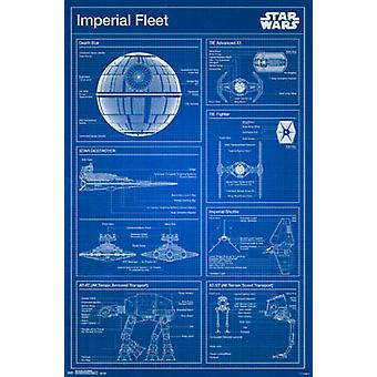 Star Wars - Imperial Blueprint Poster Print