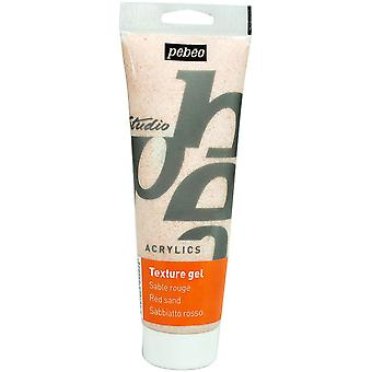 Pebeo Studio Acrylics Sand Texture Gel 250ml Tube (Red)
