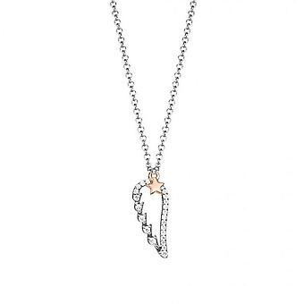 ESPRIT women's chain necklace silver cubic zirconia Angel Wings ESNL93171A420