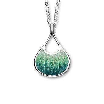 Sterling Silver Scottish Elements Tundra Enamel Hand Crafted Necklace Pendant - EP306-Tundra