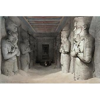 Interior of the Temple of Aboo Simbel, from.. - Art Print