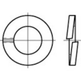 TOOLCRAFT 105623 Anelli di blocco diviso Al diametro interno: 2,1 mm DIN 127 Acciaio a molla 100 pc(i)