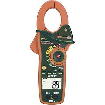 Extech EX830 Clamp meter, Handheld multimeter Digital IR thermometer CAT III 600 V Display (counts): 4000