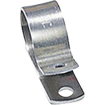 HellermannTyton ALU4-ALU-NA-C1 Fästskruv infästning 211-10040 Bunt Ø-området 6,40 mm (max) Silver 1 st(ar)