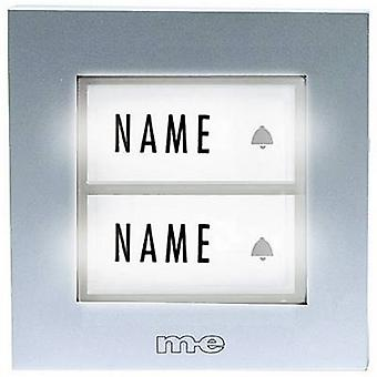 m-e modern-electronics KTB-2 S Bell button backlit, incl. nameplate 2x Silver 12 V/1 A