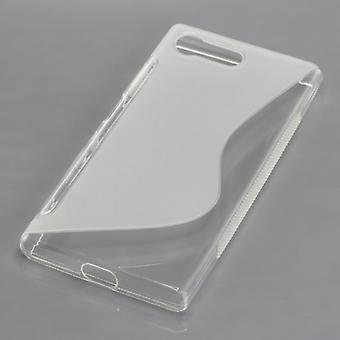Mobile Shell S-line TPU protective bumper case for Sony Xperia X compact Tranpsarent