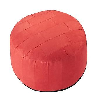 34 x 50 x 50 cushion ALKA red stool furniture stool patchwork with filling