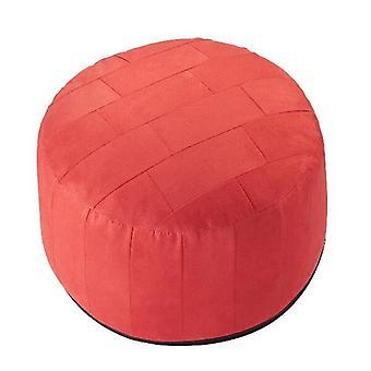 34 x 50 x 50 cojín patchwork de taburete de muebles ALKA taburete rojo con relleno