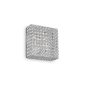 Ideal Lux Admiral Modern Square Kristall 4 Licht Wandleuchte