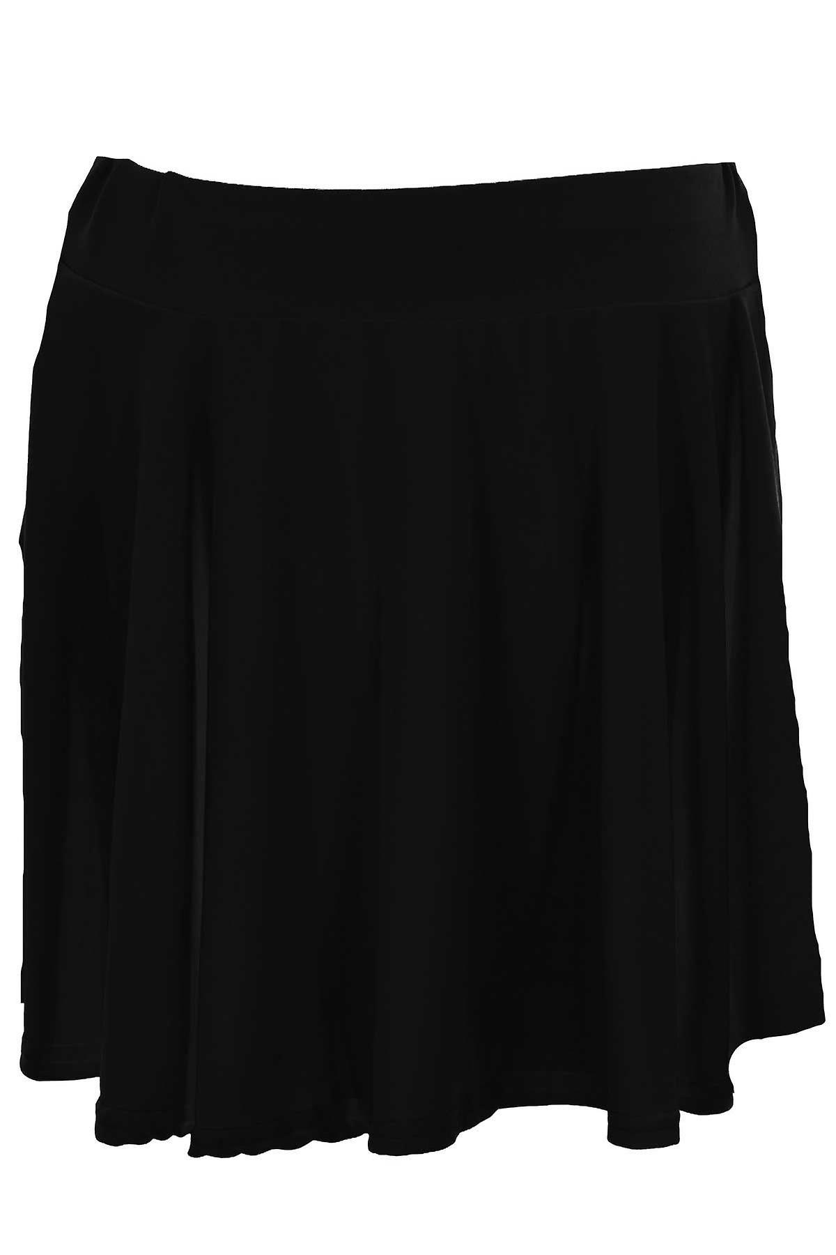 Children's Neon Luminous Plain Skater Flare Girls Party Casual Short Mini Skirt