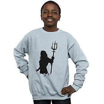 DC Comics ragazzi Aquaman Mono sagoma Sweatshirt